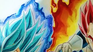 Como Dibujar a Vegeta Ssj God/Pelicula Dragon Ball Super Broly/ Batalla Final Parte 2