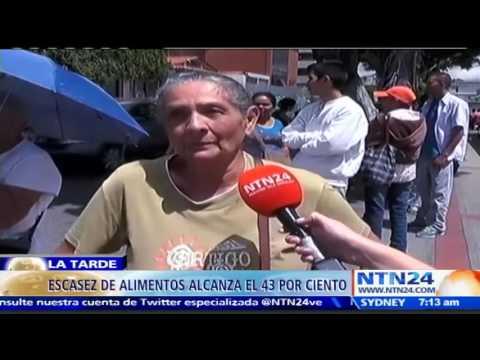 Venezolanos han perdido de 3 a 5 kilos de peso debido a la fuerte escasez de alimentos