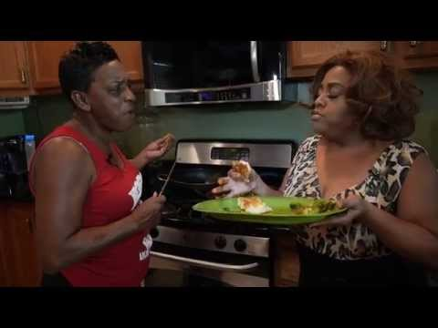 Actress Sherri Shepherd makes Pork Chops with Aunt