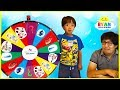 Ryan plays Disney Quiz Show and Nick Jr Spin Wheel
