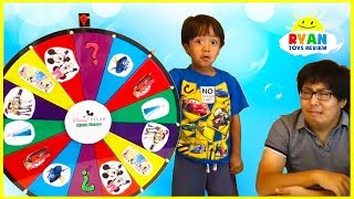Ryan plays Disney Quiz Show and Nick Jr Spin Wheels Games