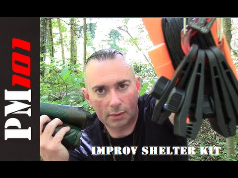 Improv Shelter Kit: Easy Tarp Shelter Setup Tools  - Preparedmind101
