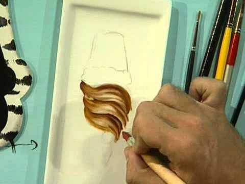 Pintura en porcelana estilo safari