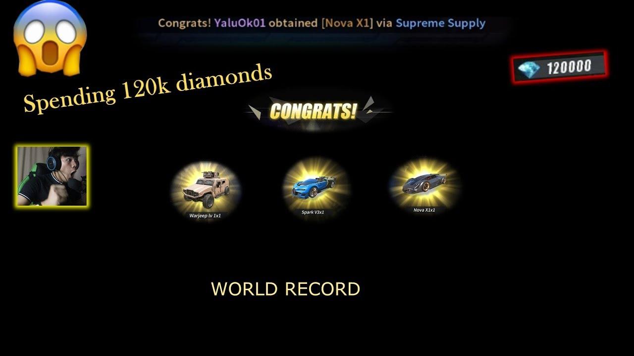 SPENDING 120K DIAMONDS FOR CAR SKINS (ROS WORLD RECORD)