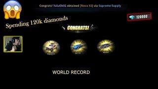 SPENDING 120K DIAMONDS FOR CAR SKINS (ROS WORLD RECORD)-Ang pinakamalaking top up sa buong mundo.