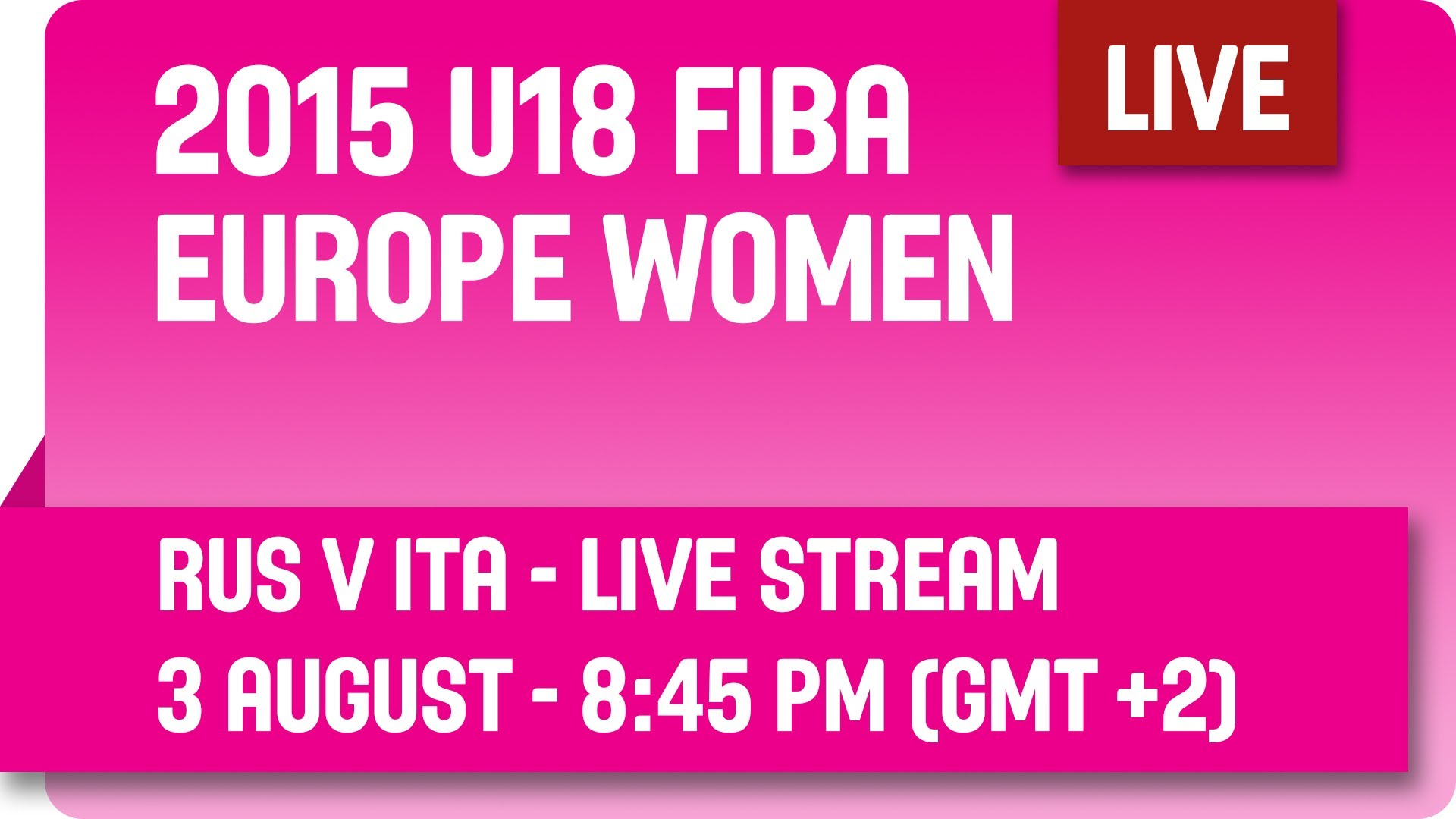 Russia v Italy - Group E - Live Stream - 2015 U18 European Championship Women