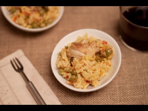 Arroz con pollo en la olla rápida (WMF)