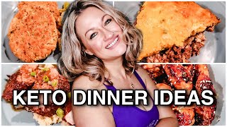 KETO DINNER IDEAS | WHAT'S FOR DINNER ON KETO? |  EASY KETO RECIPES | Suz and The Crew