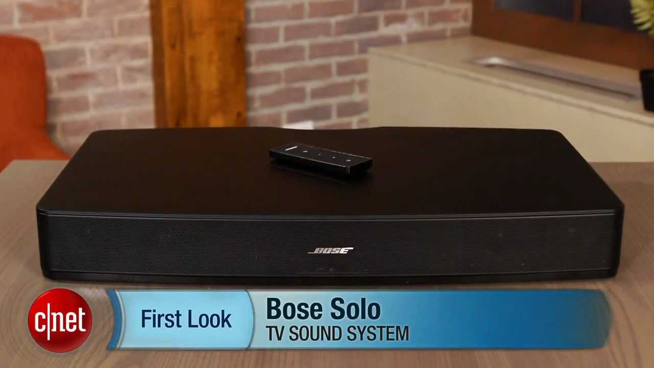 bose solo tv sound system great looking sound bar with decent sound youtube. Black Bedroom Furniture Sets. Home Design Ideas