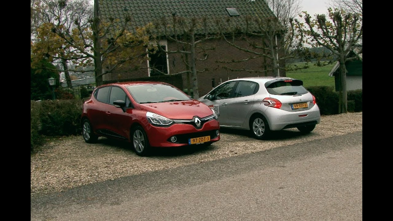 renault clio vs peugeot 208 youtube. Black Bedroom Furniture Sets. Home Design Ideas