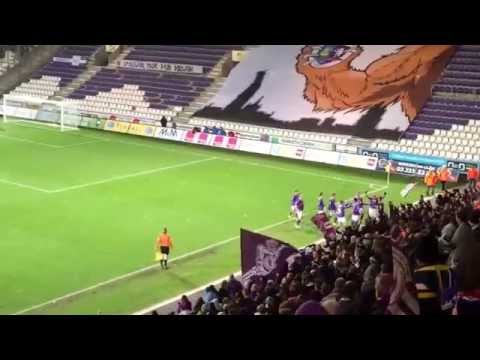KFCO Beerschot Wilrijk - Spouwen Mopertingen 2:1 Dyron Daal scores the 2:1 on penalty + crowd goes wild.