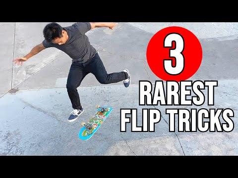 3 RAREST FLIP TRICKS - 360 Hardflip Ghetto Bird, Fakie FS Gazelle Flip & More!