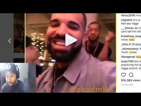 Dj akademiks reacts to Drake dissing him on Ig Live