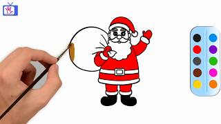 Color Kids TV: Drawing and coloring Santa Claus esl kids toys youtube kids learning for kids