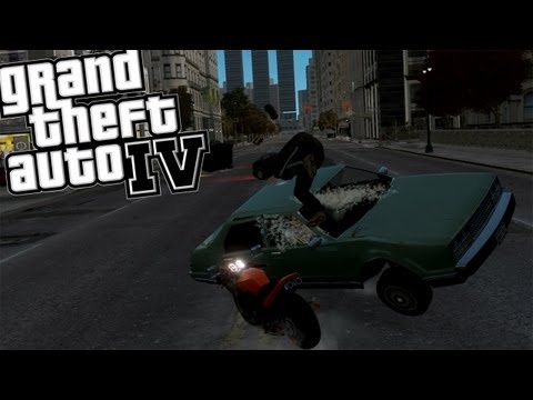 GTA IV Carmageddon Mod - Part 2 - Driving a Motorbike is NOT SAFE!