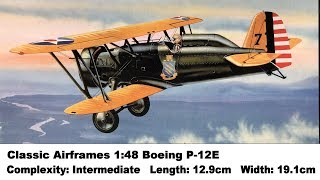 Classic Airframes 1:48 Boeing P-12E Kit Review