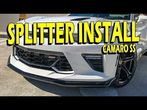 Install Guide: 2016 Camaro SS GM Splitter (Front Fascia Extension)