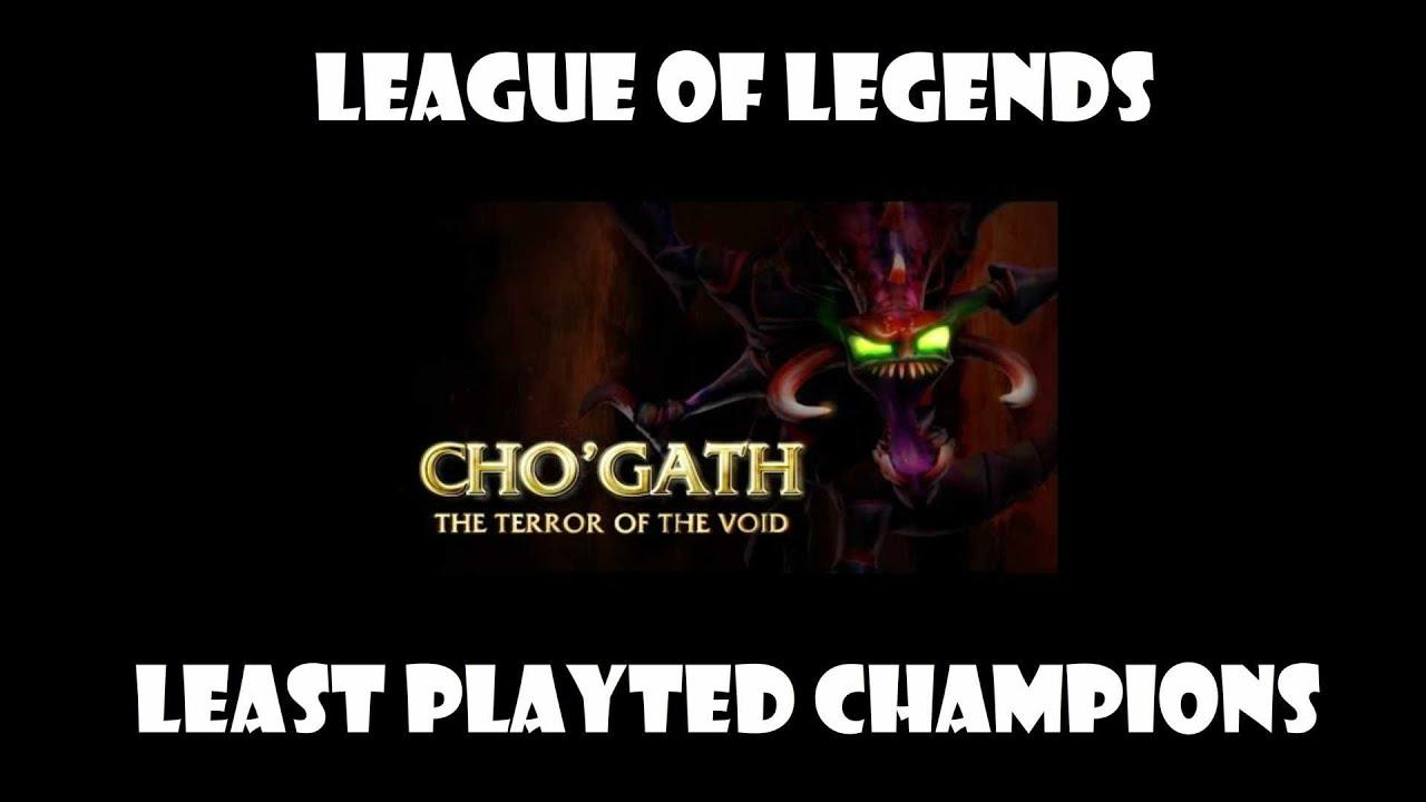 Least popular champions list? - League of Legends