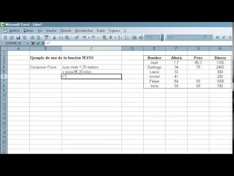 TEXTO en Excel - Función y Ejemplo de uso