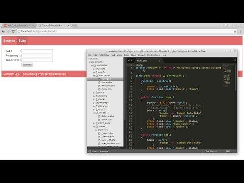 Membuat Tambah Data dengan CodeIgniter dan MariaDB (4)