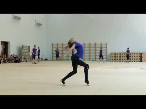 Художественная гимнастика. Виктория Мазур. Открытая тренировка сборной Украины 16/07/2016