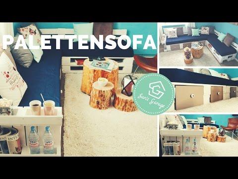Sofa Aus Paletten | Palettensofa | Europaletten | How To | Bauen | DIY | Upcycling | Paletten Sofa