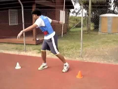 Discus throw technique training