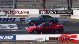MR2 vs Mustang GT Drag Racing