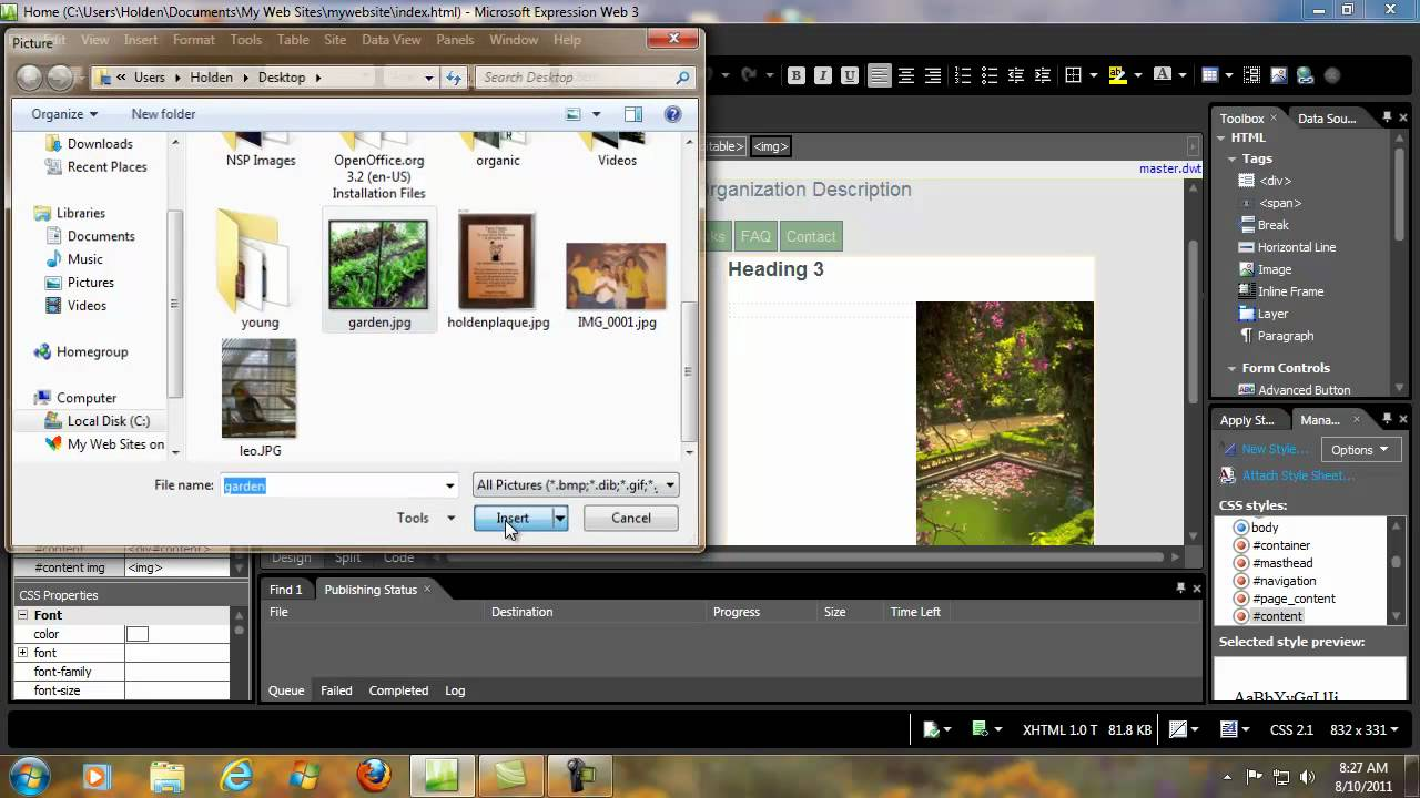 How to create a website with microsoft web expression 3 for It web page