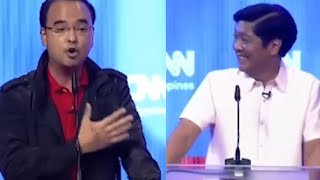 On Corruption Fiery Debate Cayetano Attacks Marcos Slick Defense