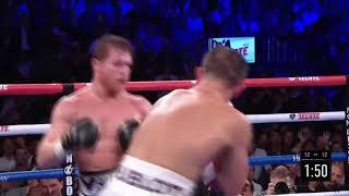 Canelo Alvarez vs Gennady Golovkin 2. Round 12, punches landed