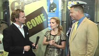Jeff with Brian McNamara, Sally Pressman Saluting Military Spouse Night