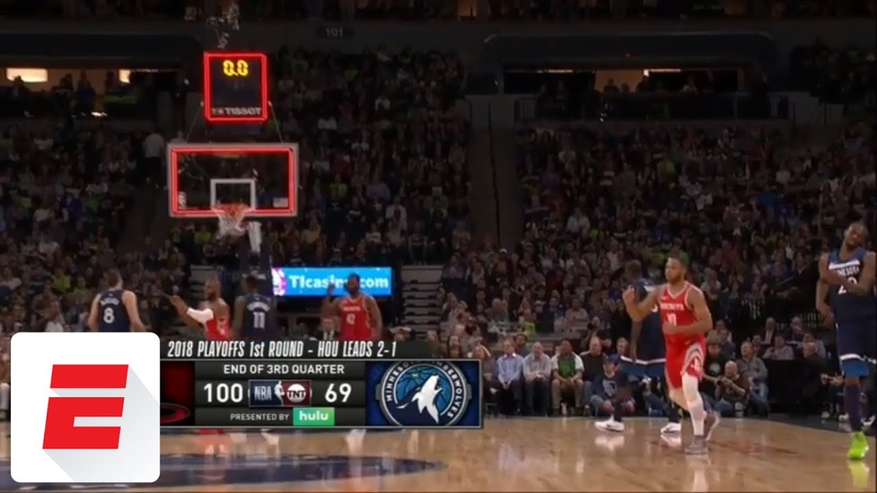Eric Gordon beats the buzzer to give Rockets 50-point third quarter vs. Timberwolves | ESPN
