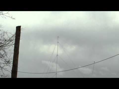 ham radio and or military wire antenna system at the veterans adminstration hospital.