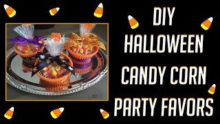 DIY Halloween Candy Corn Favors | Everything is from Dollar Tree!