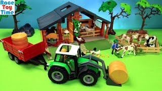 Playmobil Tractor Playset plus Farm Animals Toys For Kids