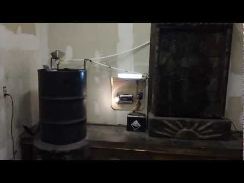 Rocket Stove / Thermoelectric generator and waterfall part 1