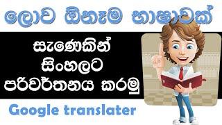 How to Translate Sinhala into any language - dictionary