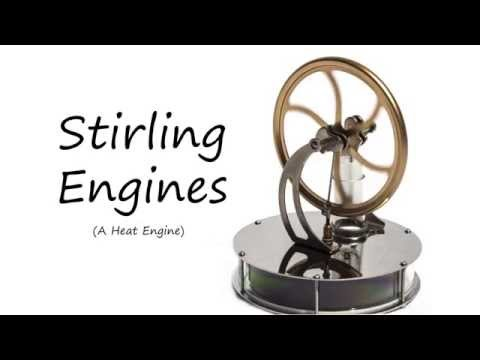 Solar Powered Stirling Engine - Multiple Views