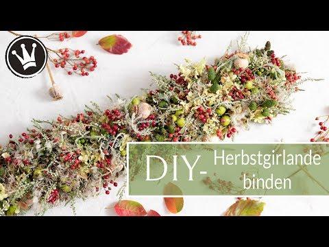 DIY - HERBSTDEKO Aus Naturmaterial | GIRLANDE Selber Machen | Deko Mit Lichterkette | DekoideenReich
