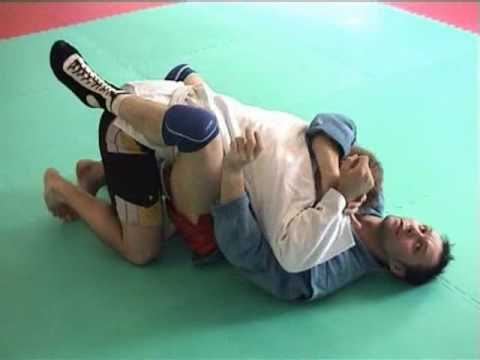 Sambo Techniques - Keylock from Guard Image 1