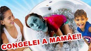 Brincadeira MINHA MÃE NA BANHEIRA CHEIA DE GELO - Bela Bagunça