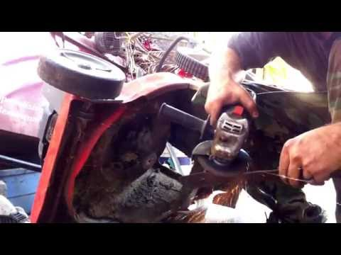 Sharpen and Balance a Lawn Mower Blade with a Hand Grinder