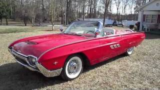 1963 Ford Thunderbird Sport Roadster Start Up, Exhaust, and In Depth Tour
