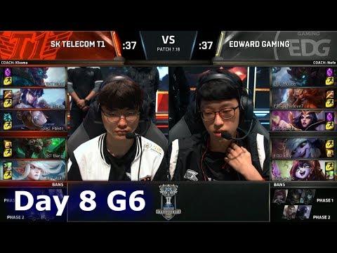 SK Telecom T1 vs Edward Gaming   Day 8 Main Group Stage S7 LoL Worlds 2017   SKT vs EDG G2