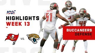 Bucs Defense Dismantles Jaguars w/ 5 Sacks & 2 INTs | NFL 2019 Highlights