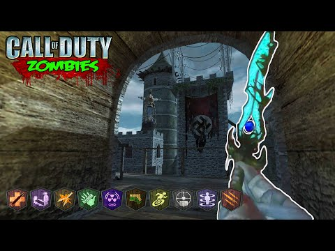 ELEMENTAL SWORDS + EASTER EGG QUEST - CUSTOM ZOMBIES MOD GAMEPLAY! (Call of Duty Zombies)