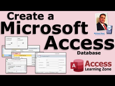 Create a Database in Microsoft Access 2013 for Beginners