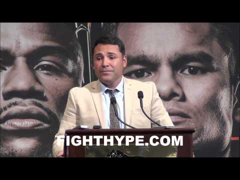 OSCAR DE LA HOYA DISCUSSES MEETING WITH BOB ARUM AND DESIRE TO END THE COLD WAR