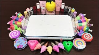 Mixing Makeup and Sand With Fluffy Slime!! Relaxing Slime